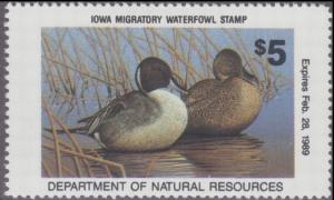 Scan of 1988 Iowa Duck Stamp MNH VF