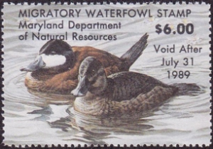 Scan of 1988 Maryland Duck Stamp