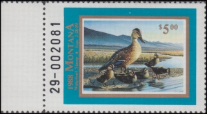 Scan of 1988 Montana Duck Stamp MNH VF
