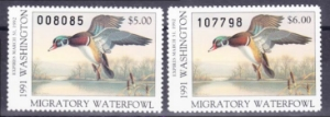 Scan of 1991 Washington Duck Stamps MNH VF