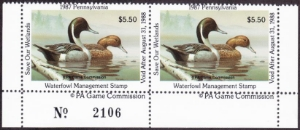 Scan of 1987 Pennsylvania Duck Stamps