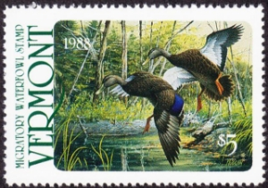 Scan of 1988 Vermont Duck Stamp