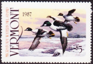 Scan of 1987 Vermont Duck Stamp