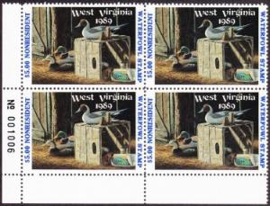 Scan of 1988 West Virginia Duck Stamps