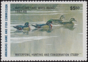 Scan of 1987 Arkansas $5.50 Duck Stamp