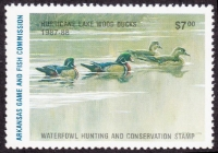 Scan of 1987 Arkansas $7.00 Duck Stamp