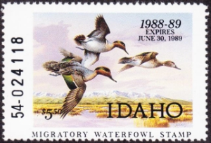 Scan of 1988 Idaho Duck Stamp MNH VF
