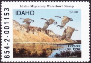 Scan of 1992 Idaho Duck Stamp