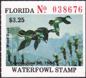 Scan of 1985 Florida Duck Stamp