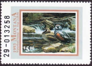 Scan of 1993 Montana Duck Stamp