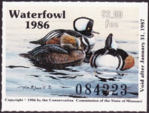 Scan of 1986 Missouri Duck Stamp