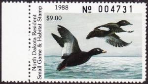 Scan of 1988 North Dakota Duck Stamp