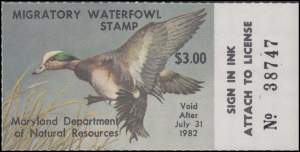 Scan of 1981 Maryland Duck Stamp