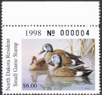 Scan of 1998 North Dakota Duck Stamp