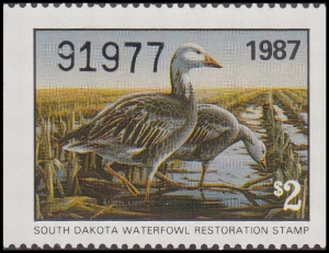 Scan of 1987 South Dakota Duck Stamp