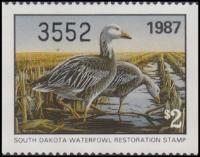 Scan of 1987 South Dakota Duck Stamp