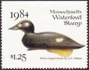 Scan of 1984 Massachusetts Duck Stamp