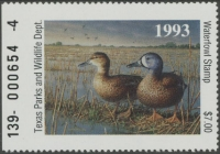 Scan of 1993 Texas Duck Stamp