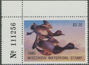 Scan of 1985 Wisconsin Duck Stamp