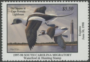 Scan of 1997 South Carolina Duck Stamp