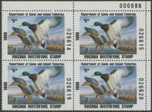 Scan of 1988 Virginia Duck Stamp