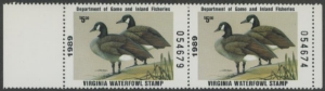 Scan of 1989 Virginia Duck Stamp MNH VF
