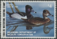 Scan of 1984 Oklahoma Duck Stamp