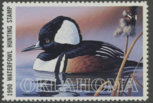 Scan of 1990 Oklahoma Duck Stamp