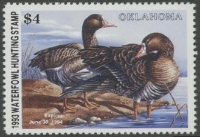 Scan of 1993 Oklahoma Duck Stamp