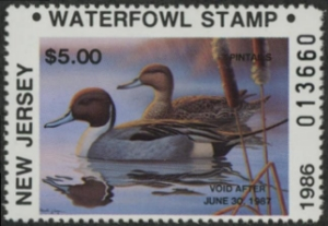 Scan of 1986 New Jersey Duck Stamp