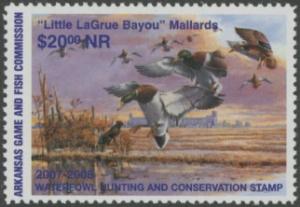 Scan of 2007 Arkansas Duck Stamp