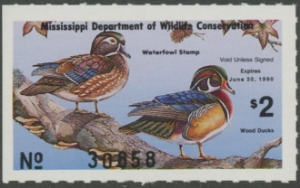 Scan of 1989 Mississippi Duck Stamp