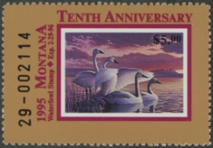 Scan of 1995 Montana Duck Stamp