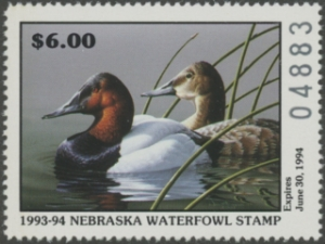Scan of 1993 Nebraska Duck Stamp