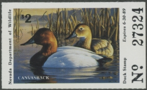 Scan of NV10 1988 Duck Stamp