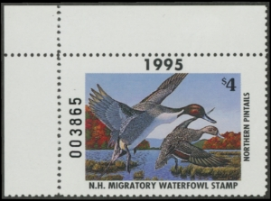 Scan of 1995 New Hampshire Duck Stamp