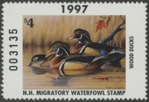 Scan of 1997 New Hampshire Duck Stamp
