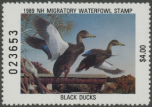 Scan of 1989 New Hampshire Duck Stamp
