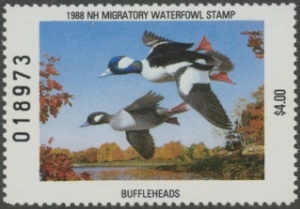 Scan of 1988 New Hampshire Duck Stamp  MNH VF