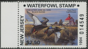 Scan of 1994 New Jersey Resident Duck Stamp