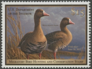 Scan of 1994 New Jersey Non-resident Duck Stamp