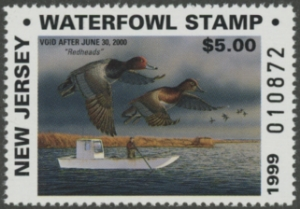 Scan of 1999 New Jersey Resident Duck Stamp