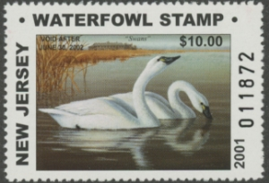 Scan of 2001 New Jersey Non-resident Duck Stamp