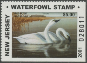 Scan of 2001 New Jersey Resident Hunter Duck Stamp