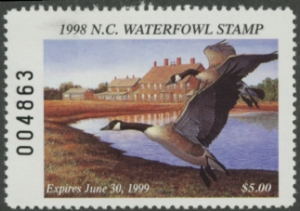 Scan of 1998 North Carolina Duck Stamp