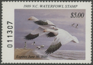 Scan of 1989 North Carolina Duck Stamp MNH VF