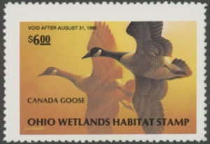 Scan of 1989 Ohio Duck Stamp