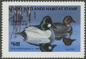 Scan of 1988 Ohio Duck Stamp