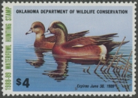 Scan of 1988 Oklahoma Duck Stamp