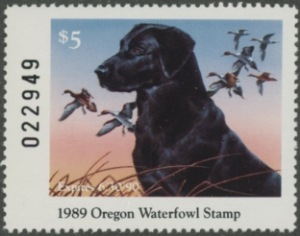 Scan of 1989 Oregon Duck Stamp